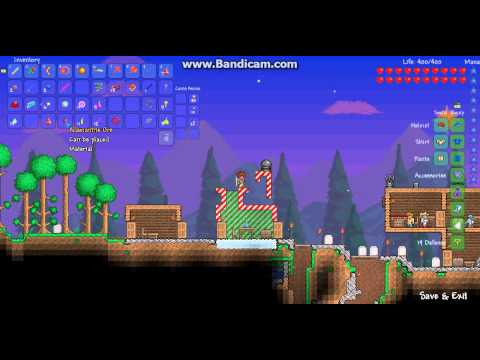 Terraria: Flying items