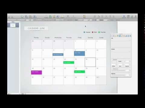 Calendar template for Keynote