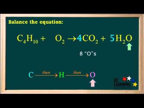 BCLN - Balancing combustion of hydrocarbon reactions - 1 - Chemistry