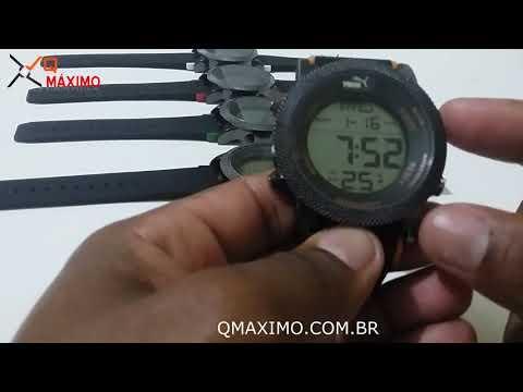 Relogio Puma Digital Novo Lançamento ajustando horario e data passo a passo - QMAXIMO