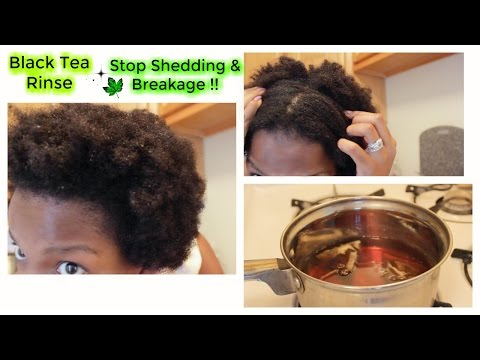 Stop Shedding And Breakage With Black Tea Rinse | Natural Hair | 4C Hair