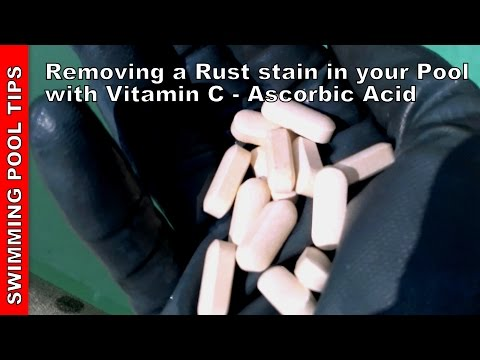 Removing a Rust Stain in your pool with Vitamin C - Ascorbic Acid Treatment