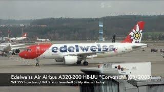 Edelweiss Air Airbus A320 Hb-iju Wk 214 Zurich-tenerife Business Class Trip Report