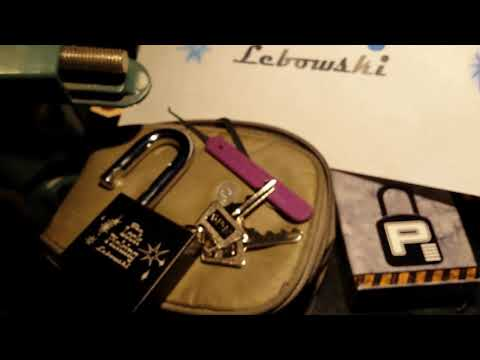 (72) Paclock 200A Lock Picking Lebowski logo padlock on steroids picking a f t e r g l o w!!!
