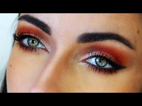 Red Half Smokey Eye - Sigma Warm Neutrals Vol 2 Makeup Tutorial | MakeupAndArtFreak