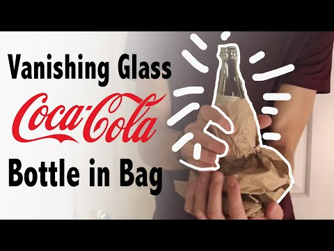 Vanishing Glass Coke Bottle in Bag - Magic Tricks REVEALED