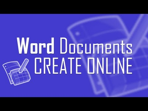 Create Word Documents online in web browser