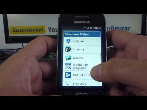 como instalar widgets de samsung Galaxy ace S5830 español Full HD