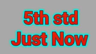 Just now   5th std poem   maharashtra (India) state board syllabus   Marathi medium English syllabus