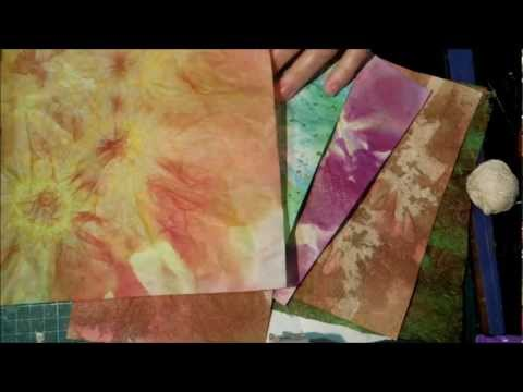 Tie dyed paper