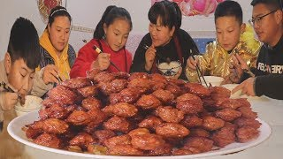 """快过年了,教你陕北年味美食""""炸丸子"""",一人一碗吃不够,过瘾!【陕北霞姐】"""