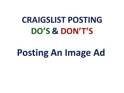 Craigslist Ads - How to Post an Image Ad on Craigslist