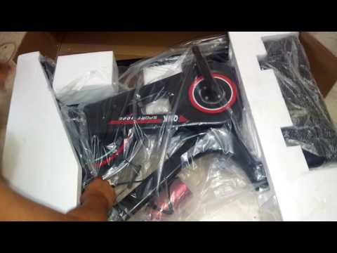 stationary bike unboxing from Lazada
