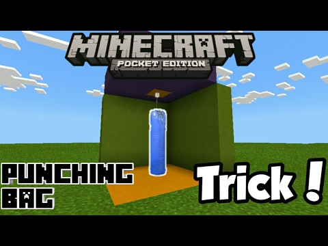 Minecraft PE | How To Make a Punching Bag! | Command Block creation
