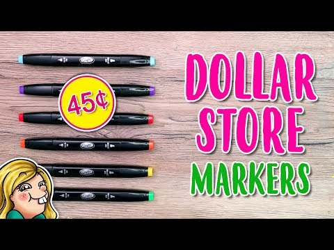 Trying Out DOLLAR STORE Markers