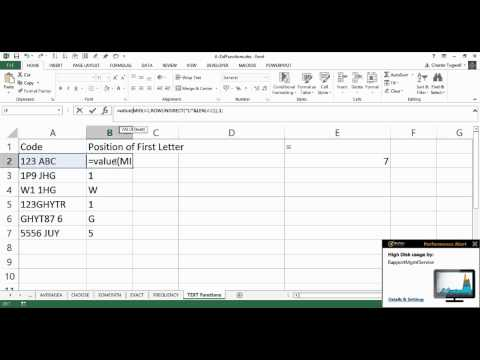 Excel: Find the Position of the First Letter in a Text String