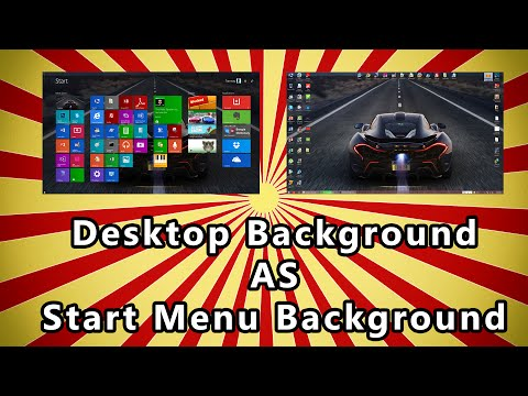 Change Start Menu Background to Desktop Background on Windows 8.1