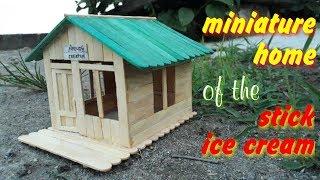 Ide Kreatif Cara Membuat Miniatur Rumah Dari Stik Es Krim