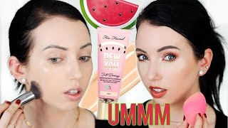 Umm..full Coverage?! Too Faced Dew You Fresh Glow Foundation {first Impression Review & Demo!}