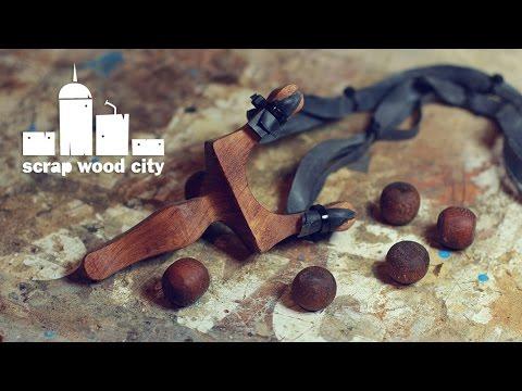 DIY wooden slingshot