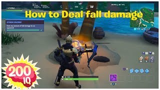 Deal any amount of fall damage to an opponent ~ quick tip/trick