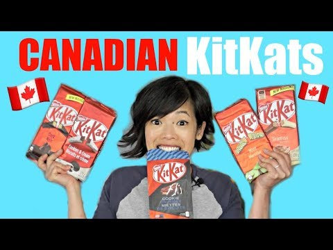 🇨🇦KITKATS 🇨🇦 & AERO Bar Unboxing - my first taste of 13 flavors of Canadian KitKat Bars