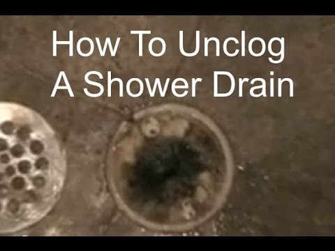 Unclogging  a Shower Drain - How to Unclog a Shower Drain