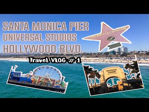 TRAVEL VLOGS: Santa Monica Pier, Universal Studios & Hollywood Blvd | Ysabelle De Mesa