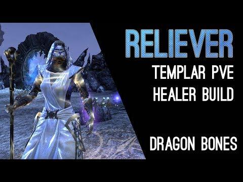 Magicka Templar Healer Build Reliever - Dragon Bones DLC Elder Scrolls Online ESO
