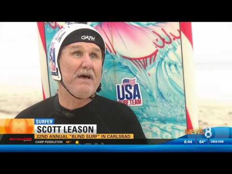 CBS 8 Features the 22nd Annual Blind Surf Event