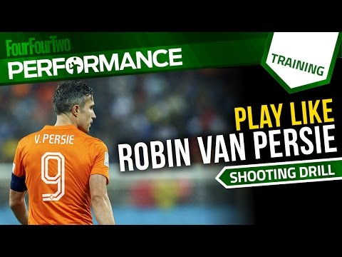 How to play like Robin Van Persie   Soccer shooting drill