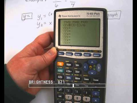 Solving rational equations by graphing calculator