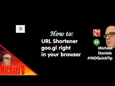 Google URL shortener goo.gl extension in chrome