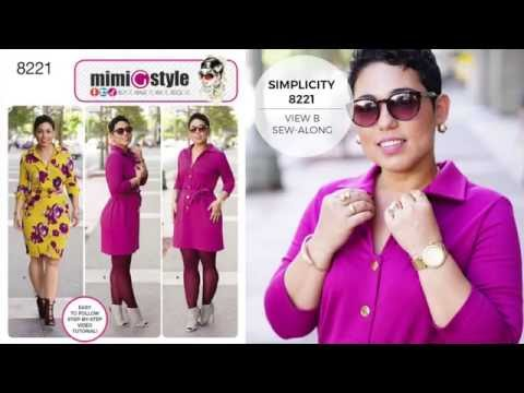 How to Sew a Shirt Dress with Mimi G Simplicity Pattern 8221