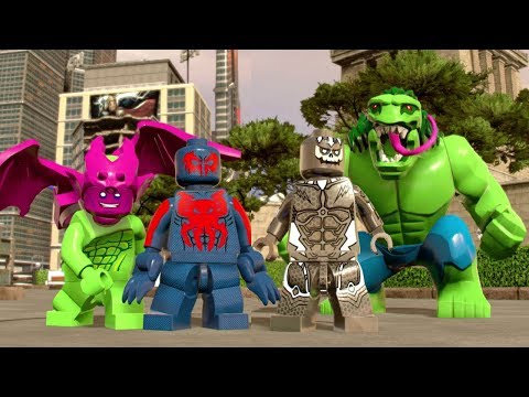 LEGO Marvel Super Heroes 2 - All 2099 Characters Showcased (Free Roam)