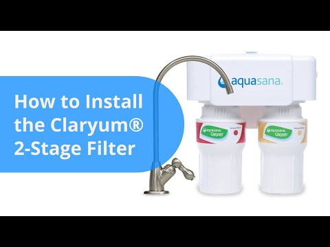How to install an Aquasana AQ-5200 under counter drinking water filter system