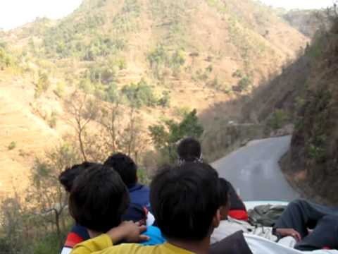 Roof Top Bus Riding in Nepal