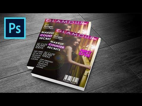 PHOTOSHOP TUTORIAL: How To Create Magazine Cover Design (Photoshop Graphic Design Tutorial)