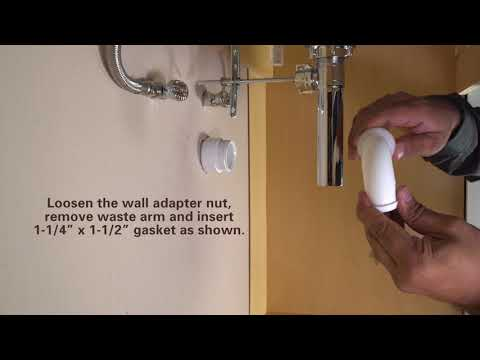 How to Install PermaFLOW No Clog P-Trap by PF WaterWorks - Retrofit Install 1-1/4