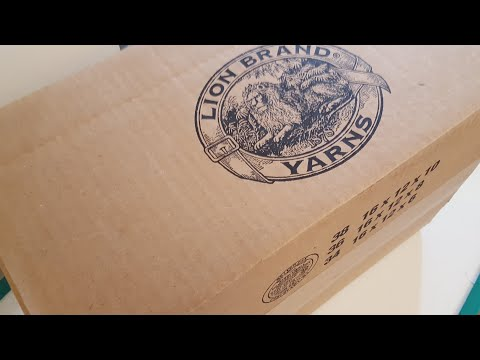Unboxing a Lion Brand Yarn Order and My Ordering Experience