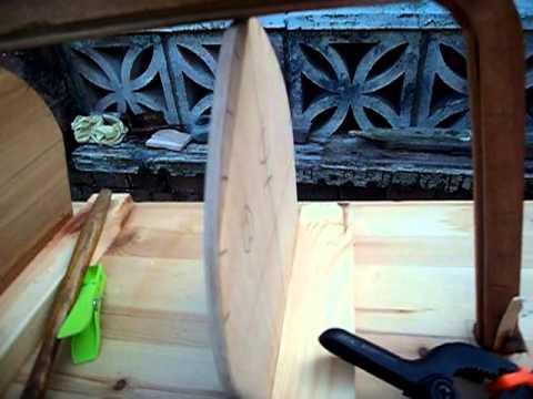 Model Clinker boat building