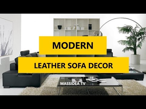 50+ Awesome Modern Leather Sofa Decor Ideas 2018