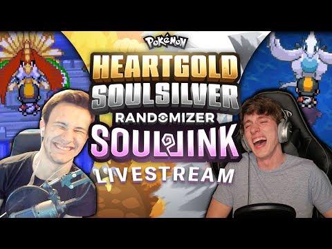 LAST 4 GYMS LIVE! (1/2) | HEART GOLD & SOUL SILVER RANDOMIZER Soul Link Part 20
