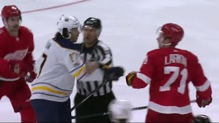 Scrum ensues after dangerous hit from Sabres