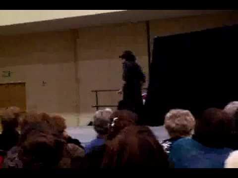 Phillip Sobrielo during magic show in Vegas