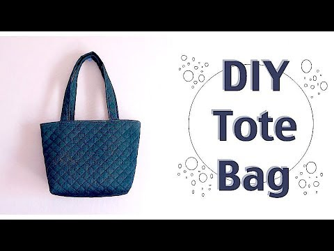 DIY Tote Bag Tutorial / Easy Sewing Projects / Costuraㅣmadebyaya