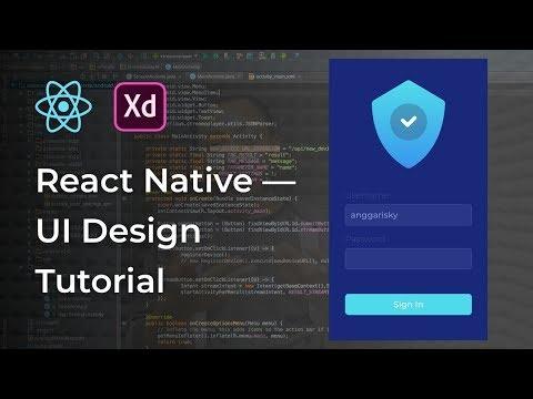 Sign In UI Design React Native Tutorial