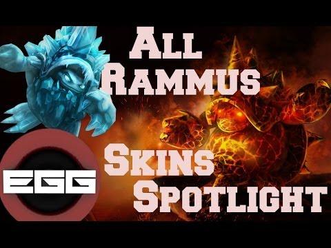 All Rammus Skins Spotlight | League of Legends Skin Review