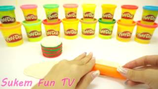 Download DIY Rainbow Cream Cookie Play doh for Children Peppa Pig Español Dinner Sukem Fun Video