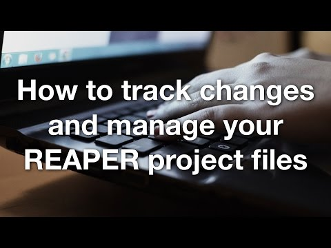 How to track changes and manage your REAPER project files
